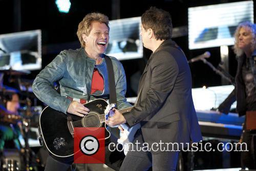 Bon Jovi performing live in concert