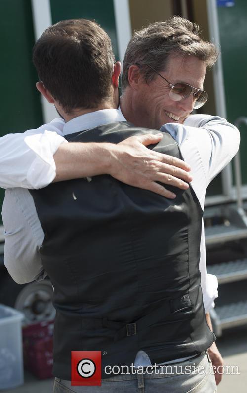 Hugh Grant and Evgeny Lebedev 8