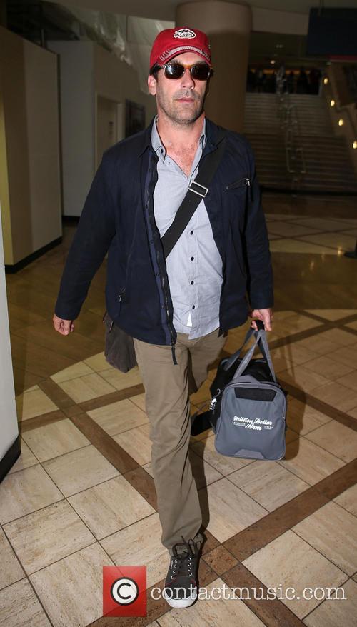Jon Hamm arrives at LAX airport
