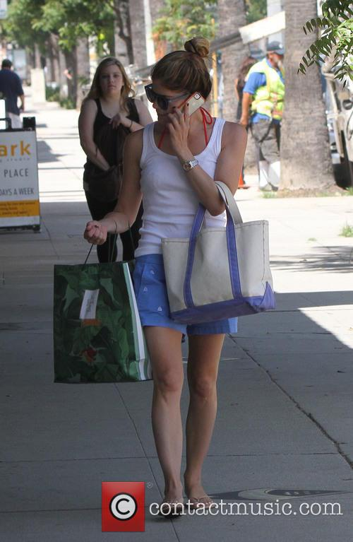 Selma Blair shops