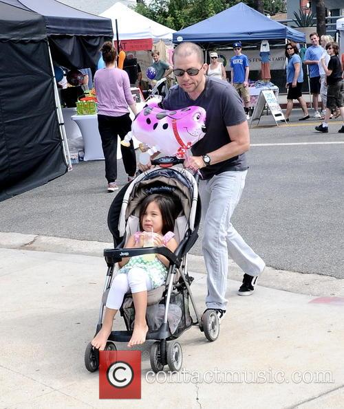 Jon Cryer and family at the Farmers Market
