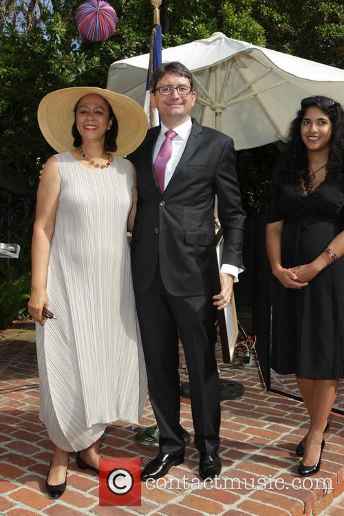 Bastille, Elga Sharpe, French Consul Mr. Axel Cruau and Dourene Cruau 1