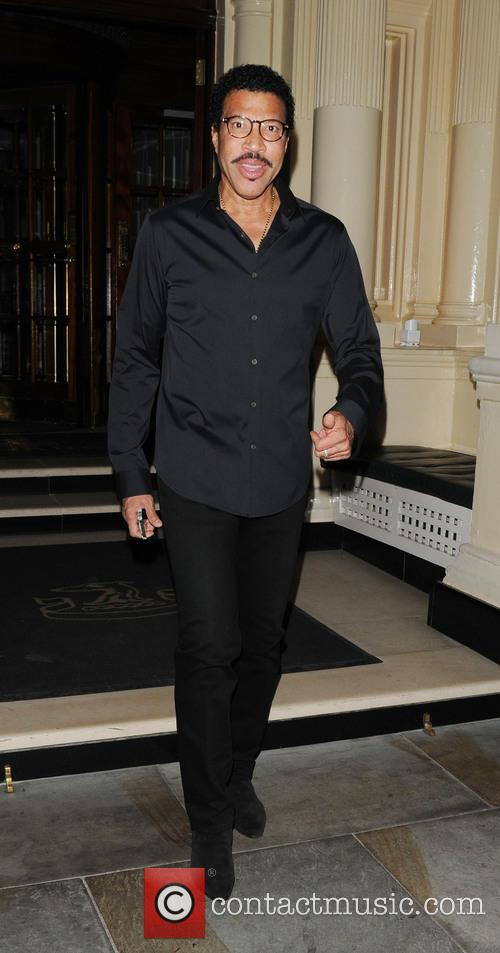 Lionel Richie leaving The Connaught hotel