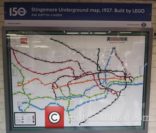 London Underground Tube Map In Lego