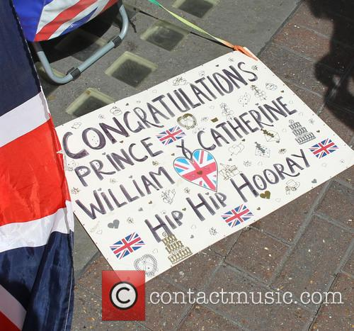 Scenes outside The Lindo Wing