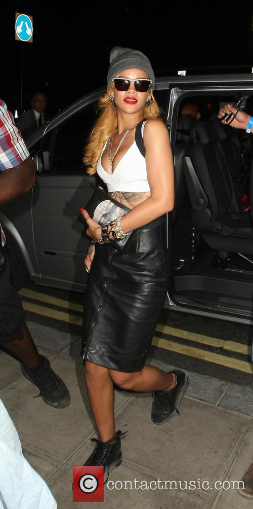 Rihanna at Her Hotel