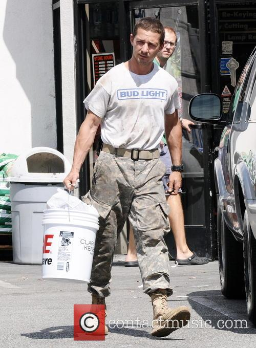 Shia Labeouf leaving an Ace Hardware Store