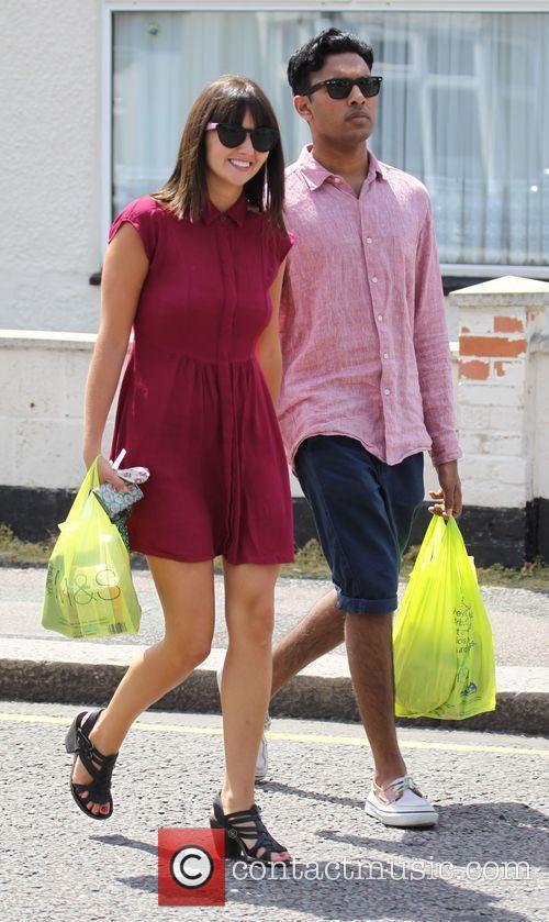 Jasmyn Banks and Himesh Patel out in Borehamwood