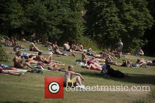 UK hot weather - Hampstead Heath