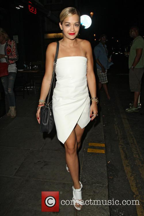 Rita Ora leaving E&O Restaurant