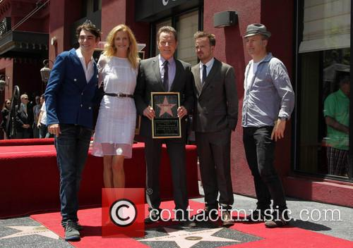 RJ Mitte, Anna Gunn, Bryan Cranston, Aaron Paul, Rob Odenkirk, On The Hollywood Walk Of Fame, Walk Of Fame