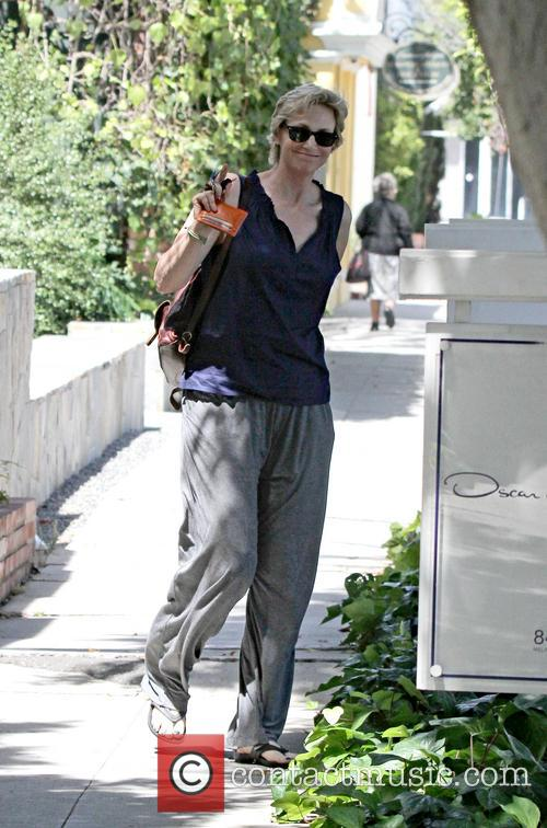 Jane Lynch and Lara Embry are seen out...