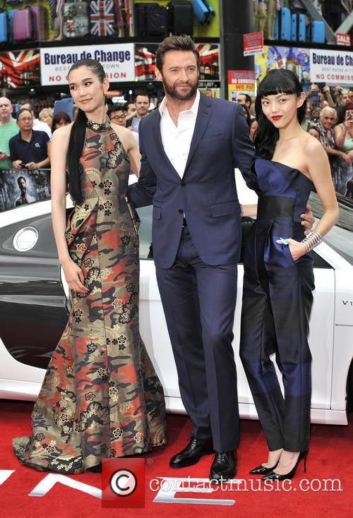 Hugh Jackman, Rila Fukushima and Tao Okamoto 1