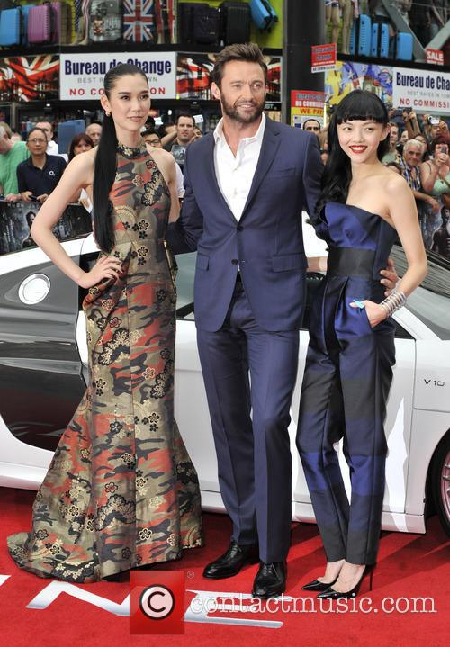 Hugh Jackman, Rila Fukushima and Tao Okamoto 2