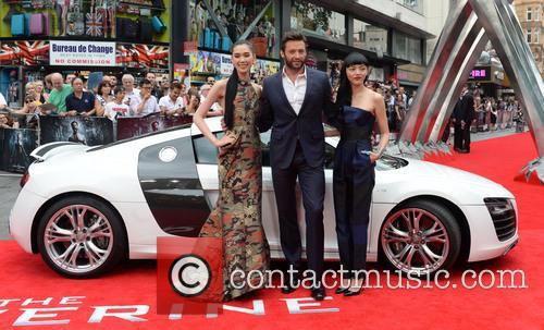 Tao Okamoto, Hugh Jackman and Rila Fukushima 8