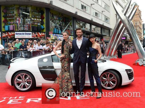 Tao Okamoto, Hugh Jackman and Rila Fukushima 9