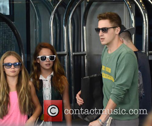 Big Time Rush depart the Sofitel Hotel