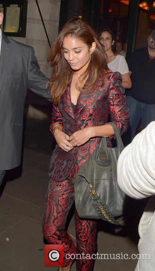 Vanessa Hudgens Leaving Balthazar Restaurant