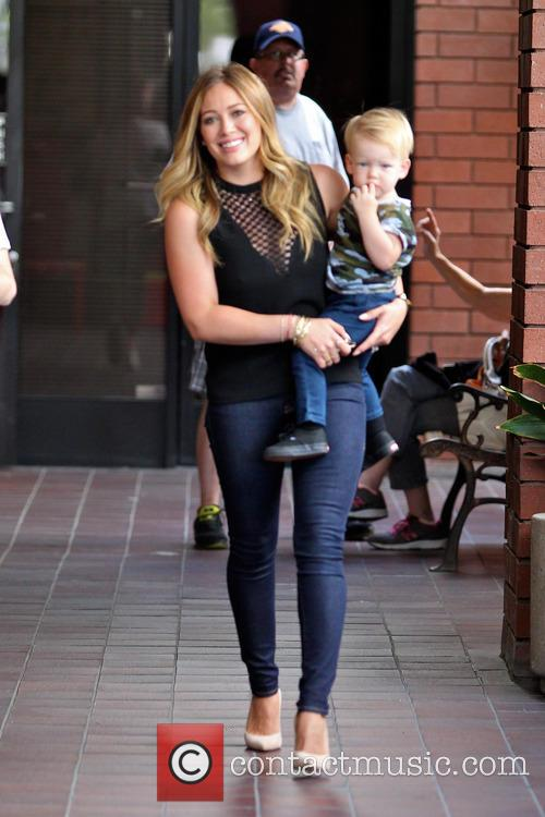 Hilary Duff and son Luca Comrie are seen after their playdate in Sherman Oaks