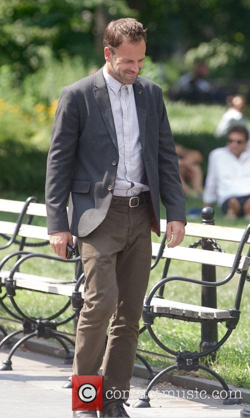 Jonny Lee Miller films 'Elementary' on location at...