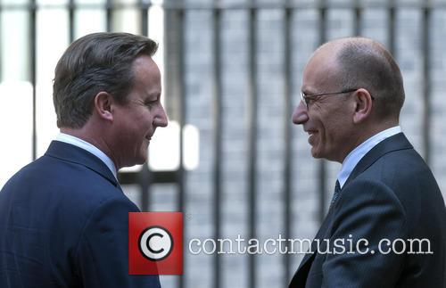 David Cameron and Enrico Letta 5