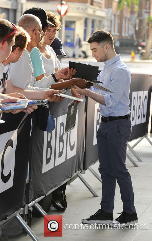 daniel radcliffe celebrities outside the bbc radio 3766496