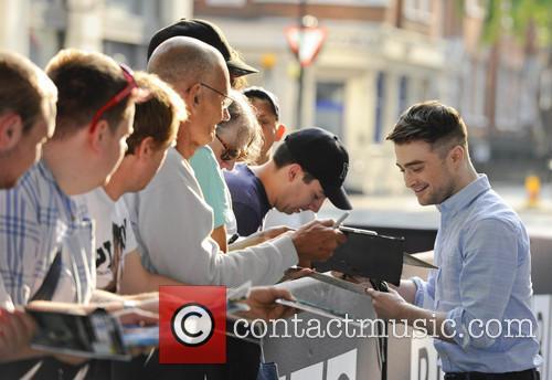 Celebrities outside the BBC Radio 1 studios