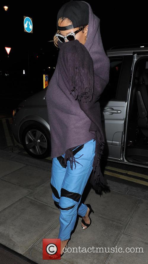 Rihanna At Her London Hotel