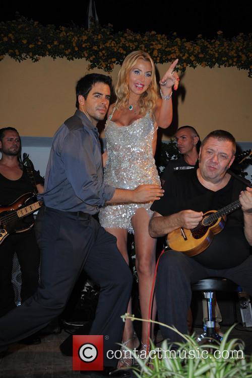 Eli Roth and Valeria Marini 2
