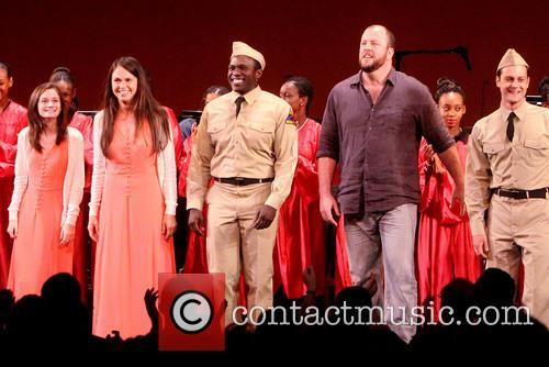 Emerson Steele, Sutton Foster, Joshua Henry, Chris Sullivan and Van Hughes 1