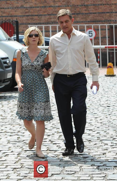Cast members leave the Coronation street Set in...