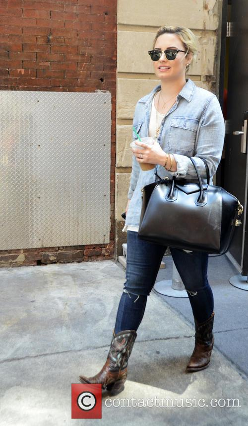 Demi Lovato leaving the Hotel Monaco in Philadelphia