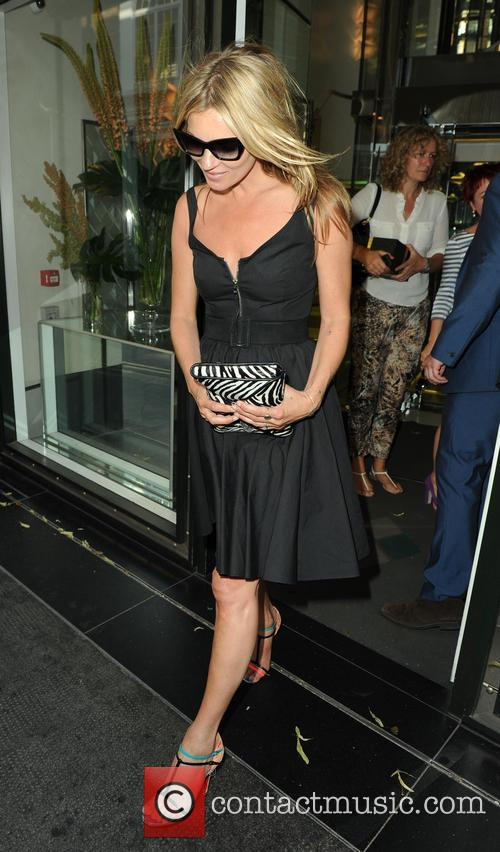 Kate Moss leaving The Club at The Ivy
