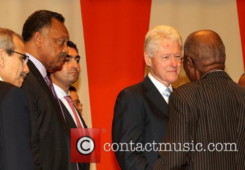 Jesse Jackson, Bill Clinton and Andrew Mlangeni 2