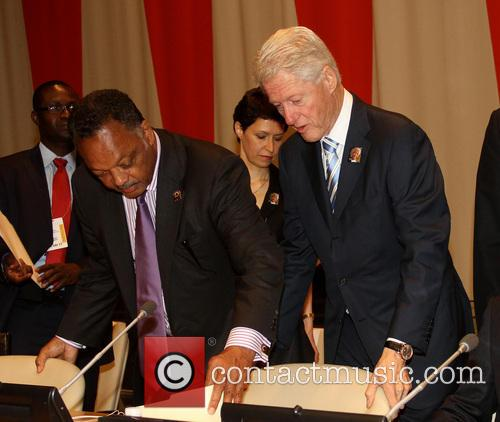 Jesse Jackson and Bill Clinton 1