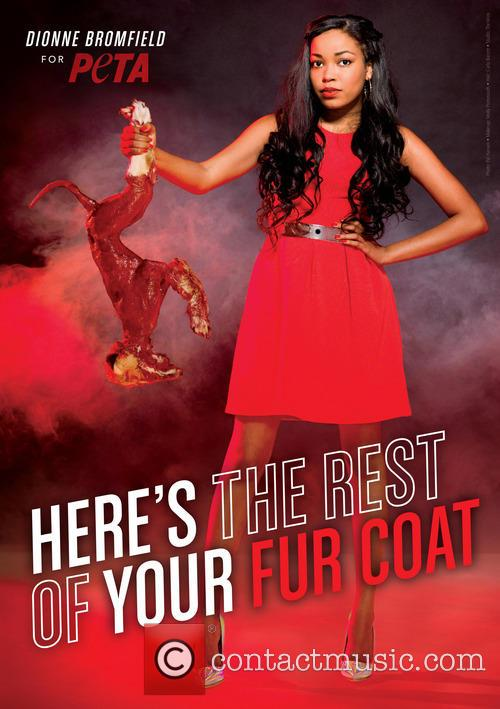 Dionne Bromfield stars in edgy new anti-fur Peta...