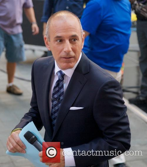 Matt Lauer filming for the 'Today' show