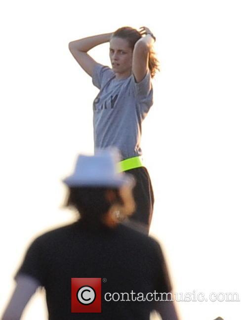 Kristen Stewart Works Up A Sweat
