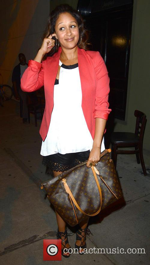 Tamera Mowry arrives for dinner at Craig's restaurant