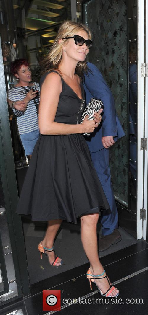 Kate Moss and friends leaving the Ivy Club