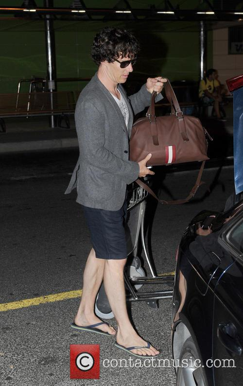 Benedict Cumberbatch Arrives In Ibiza