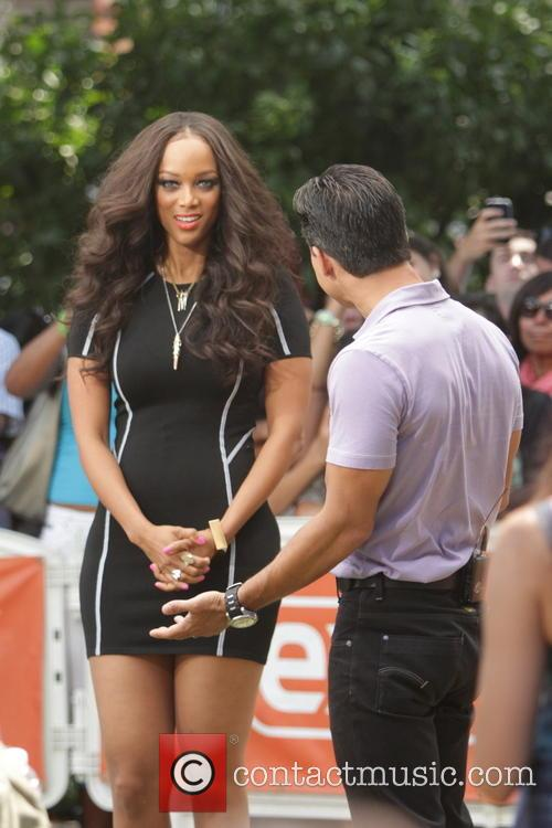 tyra banks mario lopez celebrities at the grove 3772005