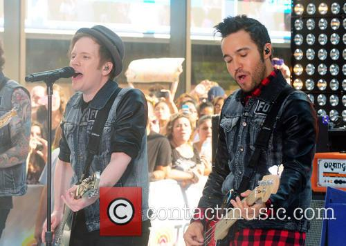 Fall Out Boy, Patrick Stump, Pete Wentz, Rockefeller Plaza