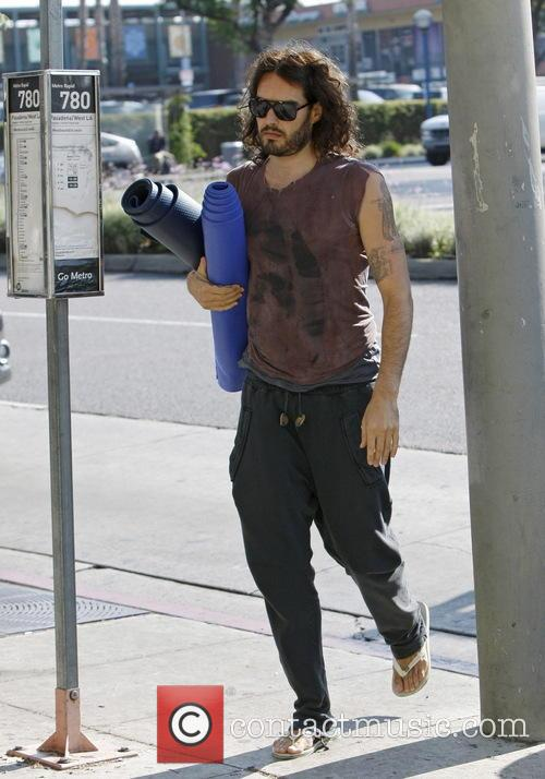 russell brand russell brand leaving yoga class 3771525