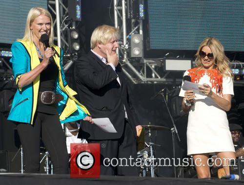 Anneka Rice, Boris Johnson and Tess Daly 1