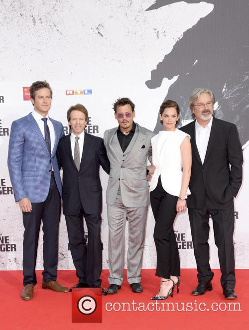 Armie Hammer, Jerry Bruckheimer, Johnny Depp, Ruth Wilson and Gore Verbinski 5