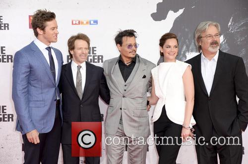 Armie Hammer, Jerry Bruckheimer, Johnny Depp, Ruth Wilson and Gore Verbinski 9