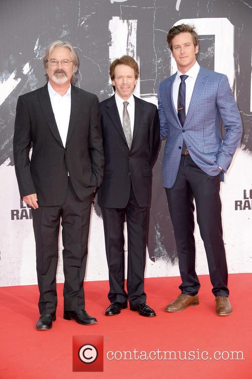 Gore Verbinski, Jerry Bruckheimer and Armie Hammer 5