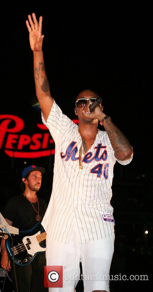 Nas performing at New York Mets Postgame Concert