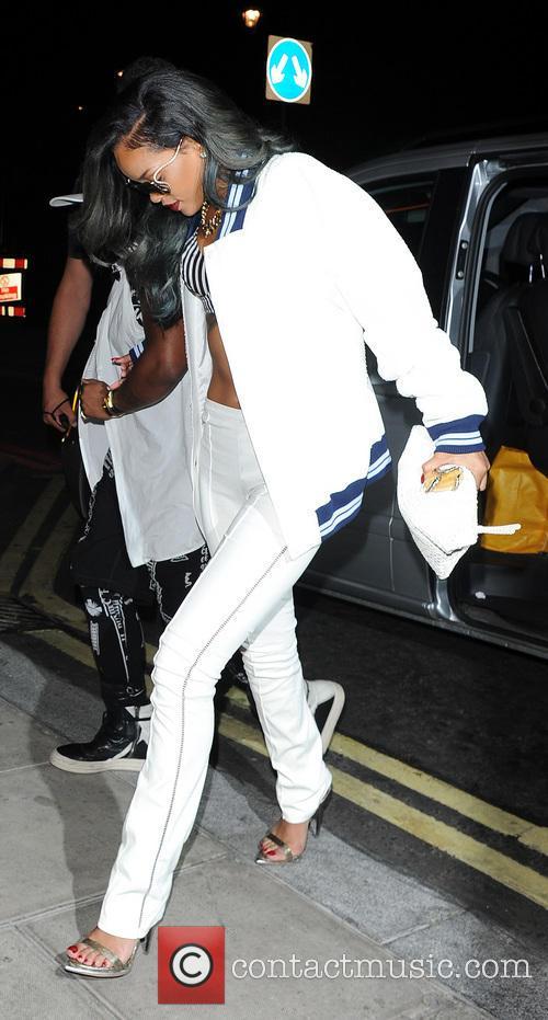 Rihanna parties at Cirque du Soir London